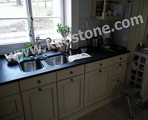 Prefab Natural Stone Butterfly Blue Granite Kitchen Countertop pictures & photos