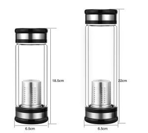 Portable Double Wall Glass Tea Bottle with Filter for Wholesaler pictures & photos