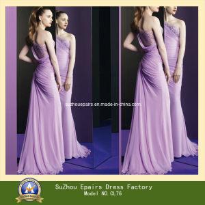 Shoulder Cocktail Dress on Special Design One Shoulder Long Beaded Elegant Evening Dresses  Cl76