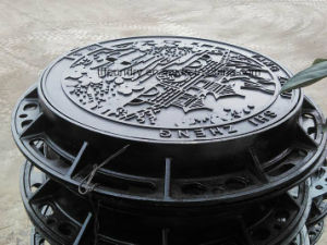 Ductile Cast Iron Machine Moulding Art Manhole Covers pictures & photos
