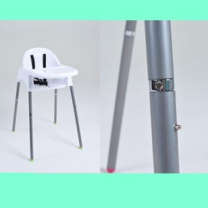 Chinese White Height Adjustable Baby Sitting High Chair/Highchair with Tray