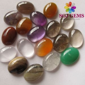 Semi Precious Stone Cabochon, Mixed Gemstones and Crystal Quartz Cabochons