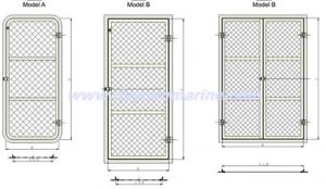 Marine Weathertight Steel Door/Steel Watertight Door