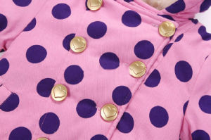 Apparel Girl Children Berber Fleece Coat with Big Polka DOT pictures & photos
