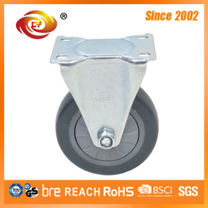 4 Inch Grey PU Fixed Medium Duty Caster