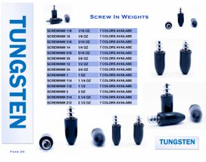 High Quality Tungsten Round Dropshot Screw in Weight pictures & photos