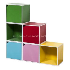 Melamine Bookshelf with Opening Door (RX-S3026)