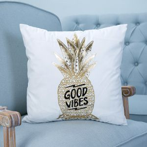 Foil/Gold&Silver Decorative Cushion/Pillow with Words (MX-02A/B/C/E/G/H) pictures & photos
