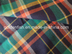 100% Cotton Flannel Fabric for Men′s Shirt
