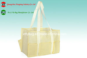 Eco-Friendly Non-Woven Shopping Tote Bag with 6 Outer Pockets pictures & photos