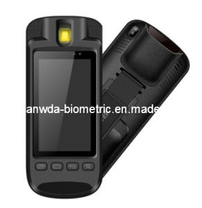 Rugged 5 Inch Fingerprint Handheld Terminal with Barcode Scanner