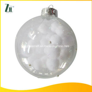 Hand Blown Clear Glass Christmas Ball Ornaments pictures & photos