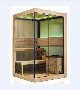 2-3 Person Type Single-Door Wooden Dry Sauna Room (M-6034) pictures & photos