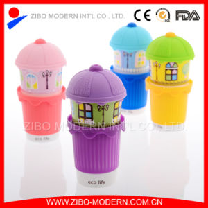 Wholesale High Quality Ceramic Mug with Printing and Silicone Lid pictures & photos
