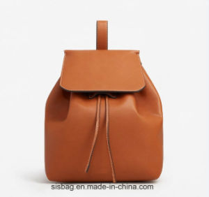 Pure Color Beam Rope PU Leisure Women Backpack pictures & photos