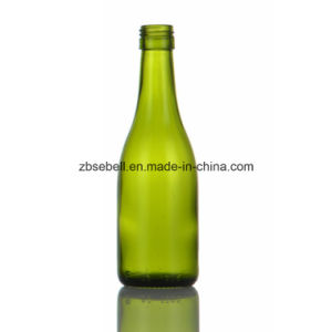 Burgundy Wine Bottle with Screw Top 187ml Green Color pictures & photos