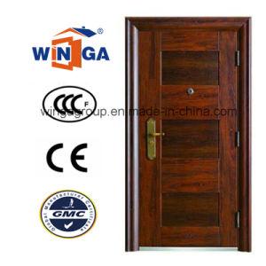 High Quality Steel Security Door with Single Doorleaf (W-S-08) pictures & photos