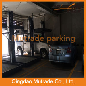 Two Post Car Parking Lift Vertical Car Lift pictures & photos