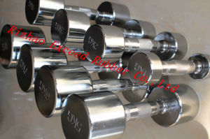 Gym Equipment Fitness Equipment of Fixed Chrome Dumbbell