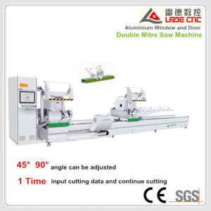Double Mitre Cutting Saw Machine 45 and 90 Degree for Aluminum Alloy Profile pictures & photos