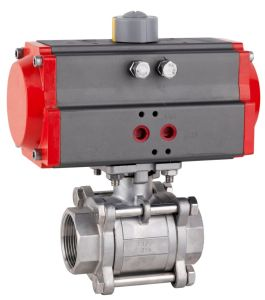 Pneumatic Three Piece Ball Valve pictures & photos