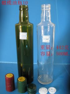 Same Style Glass Olive Oil Bottle with Different Color pictures & photos