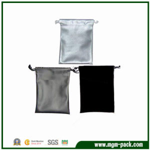 Wholesale Custom Rectangle Satin Drawstring Jewelry Bag pictures & photos