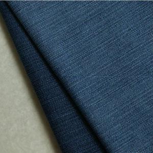 Hot Mercerized Cotton/Spandex Denim Fabric with Slub pictures & photos