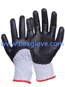 13 Gauge Anti-Cut Liner Work Glove, Cut Resistance up to Level 5, Hppe / Glass Fibre / Spandex / Nylon, pictures & photos