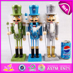 2015 Wooden Nutcracker Doll Toy for Kids, Colorful Cheap Sale Kids Wooden Doll, Promotional Wooden Doll Kids Christmas Toy W02A083 pictures & photos