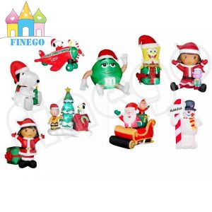 Inflatable Christmas M&M Santa Cartoon Model pictures & photos