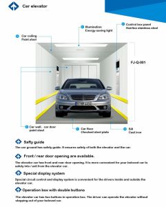 FUJI Ce Approved Car Elevator with Japan Technology pictures & photos