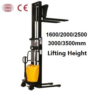 1.5 Ton Semi-Electric Stacker with Optional Lifting Height pictures & photos