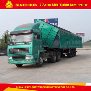 3 Axle Heavy Duty Side Dump Semi Trailer for Sale pictures & photos