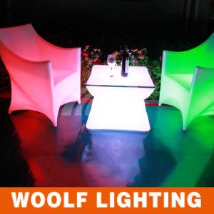 LED Garden Decor Leisure Illuminated Coffee Furniture Set pictures & photos