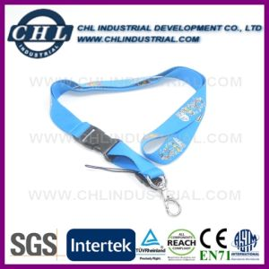 Wholesale Detachable Personalized Neck Lanyards Strap with Metal Ring pictures & photos