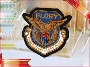 3D Embroidery Patch Adhesive Backing Woven Clothing Patch pictures & photos