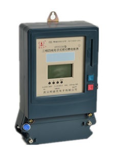 LCD Display Three Phase Prepaid Energy/Watt-Hour/Electric/Power Meter pictures & photos