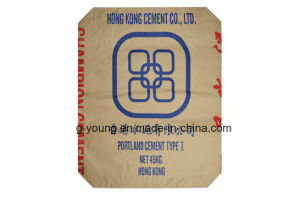 Customized Size Kraft Paper Laminated PP Woven Cement Valve Bag pictures & photos