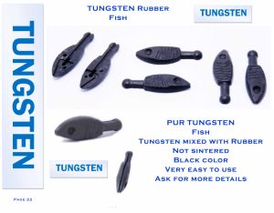 New Arrival Skinny Drop Shot Weight Tungsten Rubber Fish pictures & photos