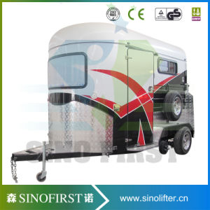 2 Horse Angle Load Horse Floats, Camper Floats, for Camping with Front Cupboards pictures & photos