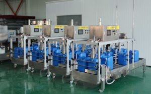Automatic Oil Filling Machine/Dosing Machine of 5 Gallon pictures & photos