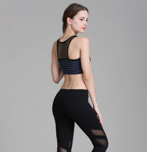 China Suppliers High Strength Shock Proof Hollow out Mesh Vest Sportwear Women′s Yoga Bra pictures & photos