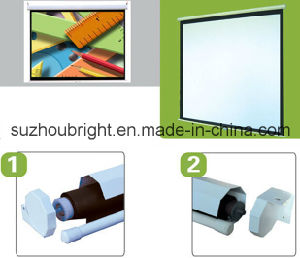 Manual Projection Screen Projector Screen Movie Screen pictures & photos