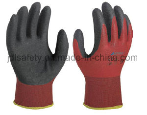 Red Work Glove with Sandy Nitrile Dipping (N1590) pictures & photos
