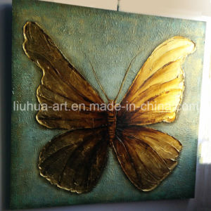 Butterfly Gold Foil Contemporary Decoration Painting (LH-252000) pictures & photos