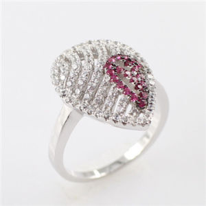 Filigree Pink CZ Micro Pave Ring Rsby5568 (RSBY5568-R1)