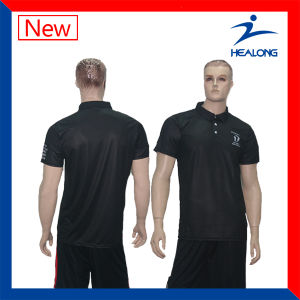 Healong Top Sale Team Wear Customized Cut & Sew Polo Shirt pictures & photos