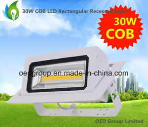 30W COB LED Rectangular Recessed Wallwasher with 90 Deg. Rotatable and Viewing Angle 120 pictures & photos
