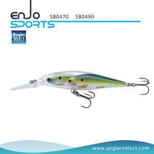 Glass Minnow Stick Bait Fishing Tackle Lure with Vmc Treble Hooks (SB0490) pictures & photos